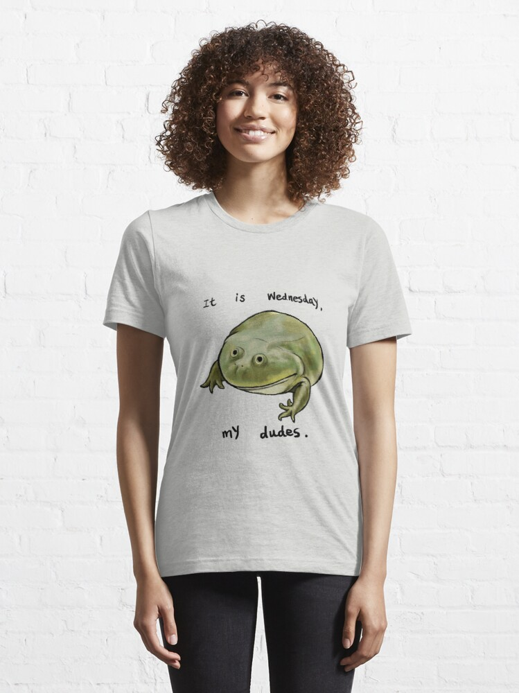 Alternate view of Wednesday Frog Art Essential T-Shirt