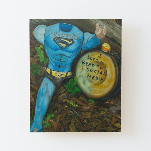 Super Social Wood Mounted Print