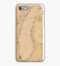 Map of Lake Michigan 1898 iPhone Case/Skin