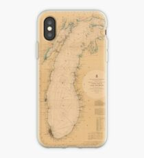 Map of Lake Michigan 1898 iPhone Case