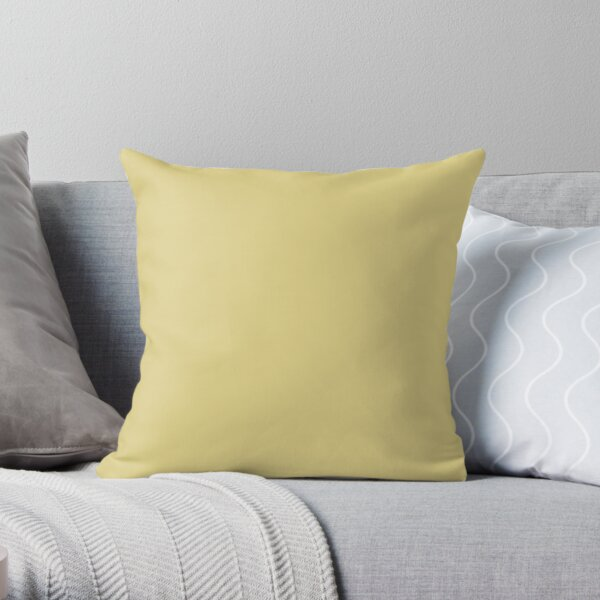 Medium Yellow Solid Color 2022 Trending Hue Chartreuse SW 0073 Sherwin Williams Method Collection - Colour Trends - Shade Throw Pillow
