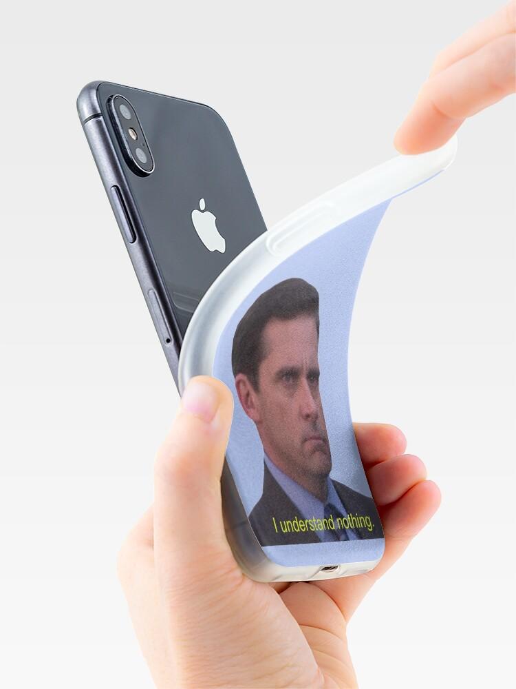 Vista alternativa de Vinilos y fundas para iPhone No entiendo nada - Michael Scott