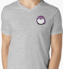 Cartoon Face 3 - Moonbase Girl [Small] Mens V-Neck T-Shirt