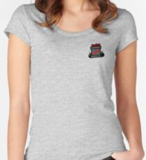 Cartoon TNT/Dynamite stack [Small] Women's Fitted Scoop T-Shirt