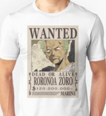 Roronoa Zoro Wanted Poster Unisex T-Shirt