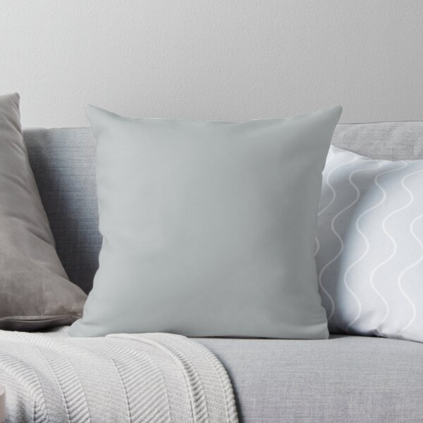 Light Gray / Grey Solid Color 2022 Trending Hue Samovar Silver SW 6233 Sherwin Williams Opus Collection - Colour Trends - Shade Throw Pillow
