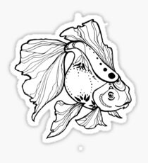 little gold fish for lucky Sticker