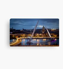 The Peace Bridge - Derry City Canvas Print