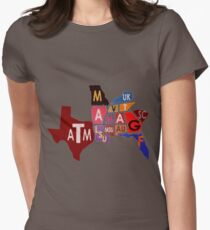 The SEC South Eastern Conference Teams Womens Fitted T-Shirt