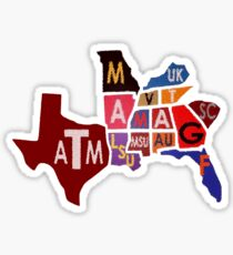 The SEC South Eastern Conference Teams Sticker
