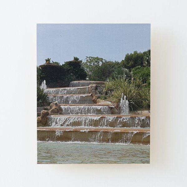 Waterfall in Spain Barcelona Wood Mounted Print