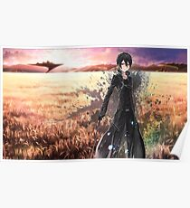 Sword Art Online Kirito Poster, Cover Poster