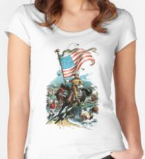 1902 Rough Rider Teddy Roosevelt Women's Fitted Scoop T-Shirt