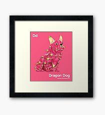 Dd - Dragon Dog // Half Dog, Half Dragon Fruit Framed Print