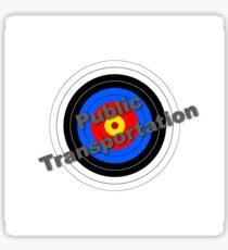Public Transportation Target Sticker