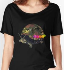 """Born to Chill"" Full Metal Snail Turtle Women's Relaxed Fit T-Shirt"