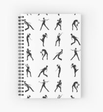 Fosse Moves Squared Spiral Notebook