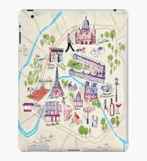 Paris illustrated Map iPad Case/Skin