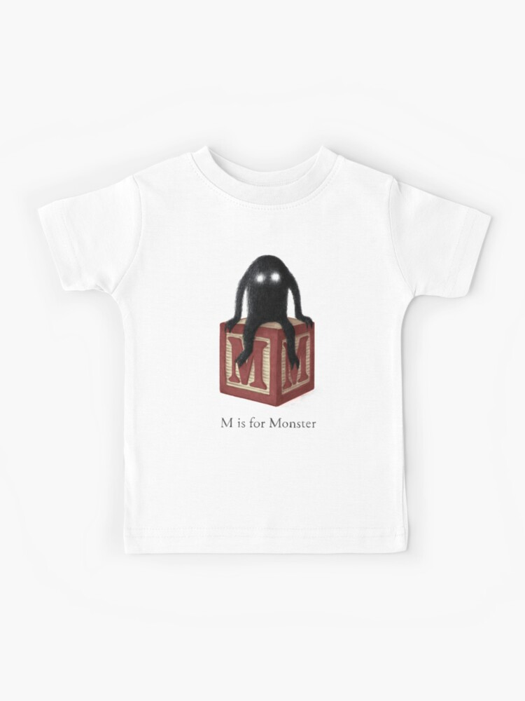 M Is For Monster Kids T Shirt By Opifan Redbubble
