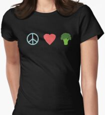 Peace, Love and Veggies Womens Fitted T-Shirt
