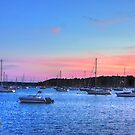 Sails After Sunset by Nancy Richard