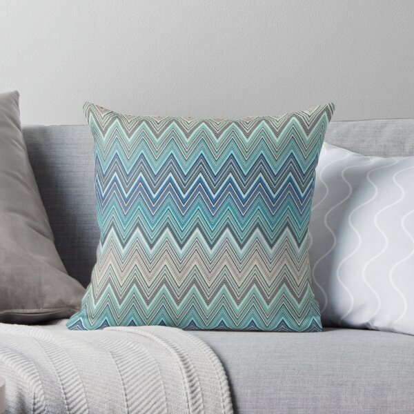 Missoni Wohnkultur blaues Design Dekokissen