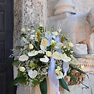 Wedding-bouquet at the church-door by Arie Koene