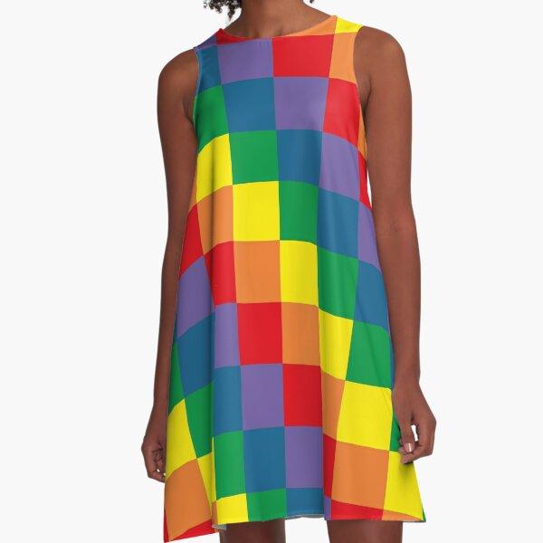 Colorful geometry A-Line Dress