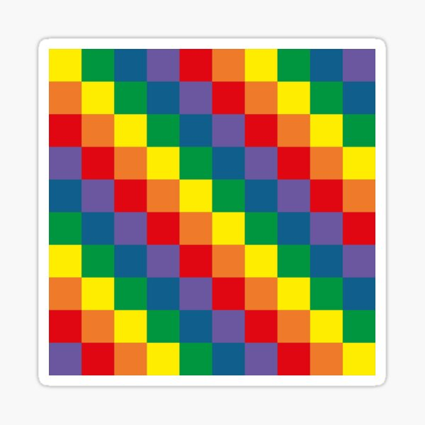 Colorful geometry Sticker