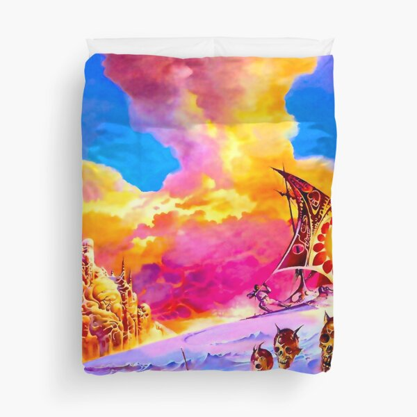 The Island of Dr. Death and other Stories - Vintage Sci-Fi  Art Duvet Cover