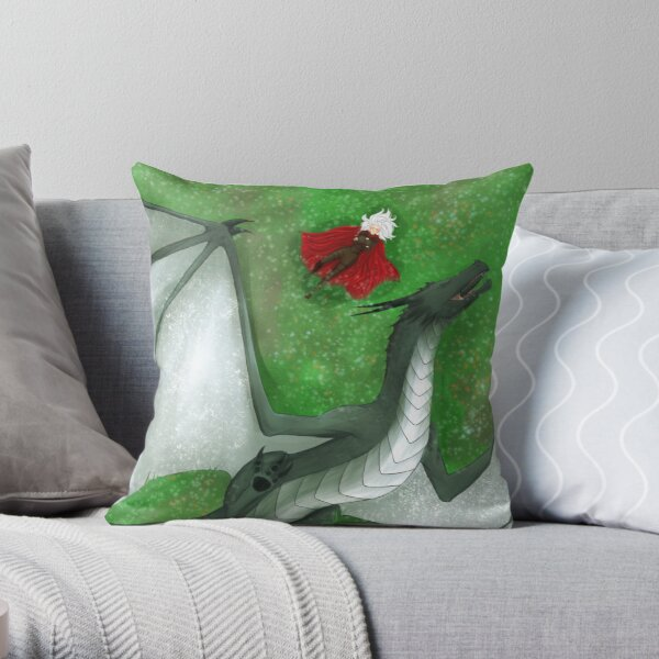 Fearsome Wyvern Indeed  Throw Pillow