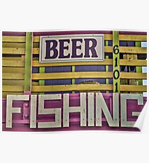 Beer and Fishing Poster