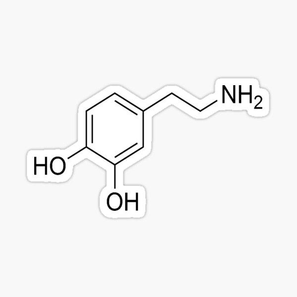 Dopamine Molecule Sticker
