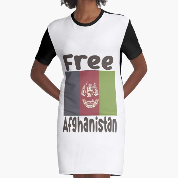Free Afghanistan Graphic T-Shirt Dress