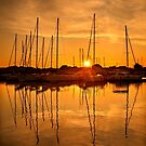 Sunset at the marina of Lefkada by Hercules Milas