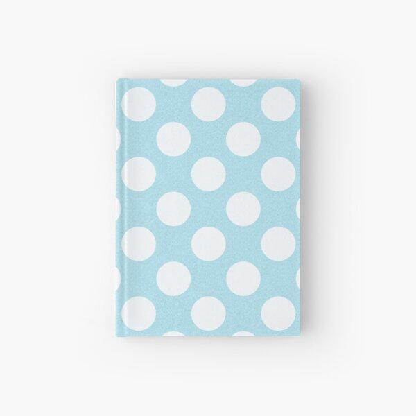Blue Large Polka Dot Pattern Hardcover Journal