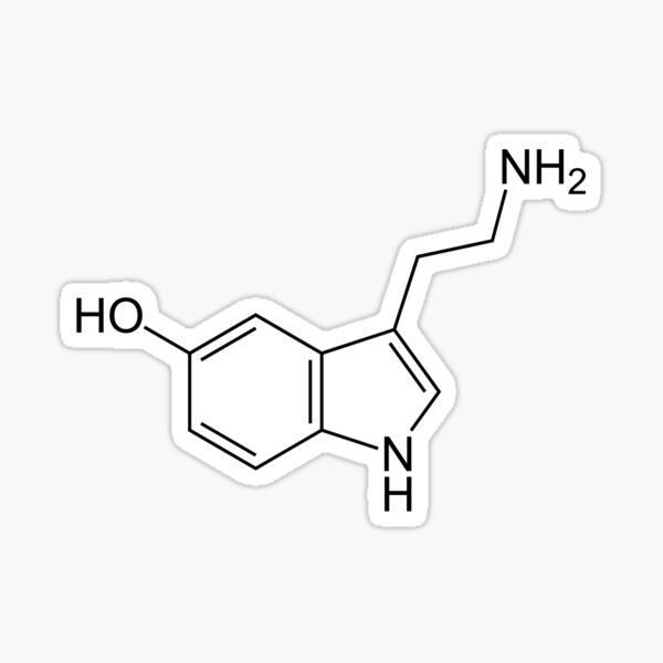 Serotonin Molecule Sticker