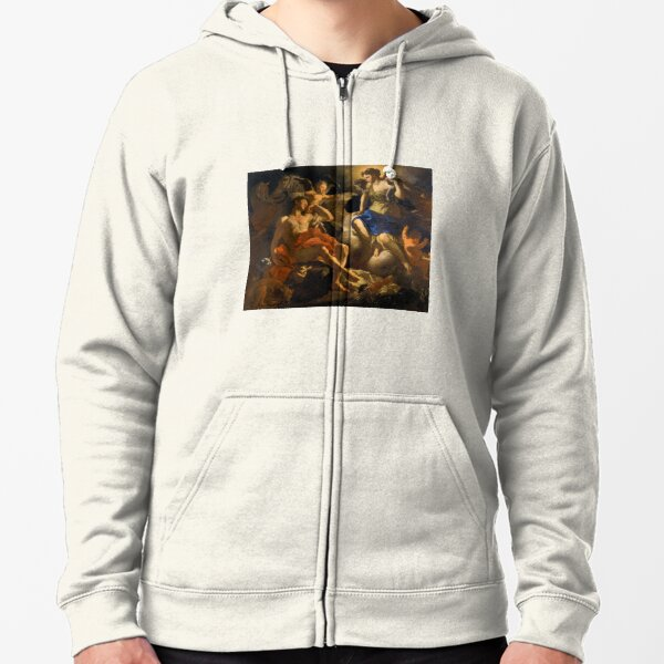 Diana and Endymion by Francesco Solimena (c1710) Zipped Hoodie