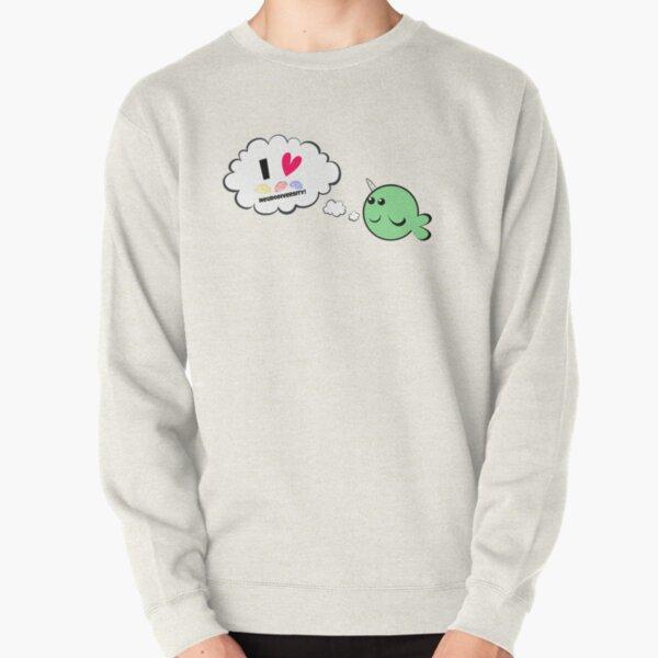 I heart neurodiversity narwhal Pullover Sweatshirt