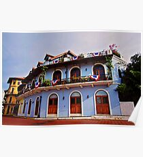 Panama Historical Architecture Poster