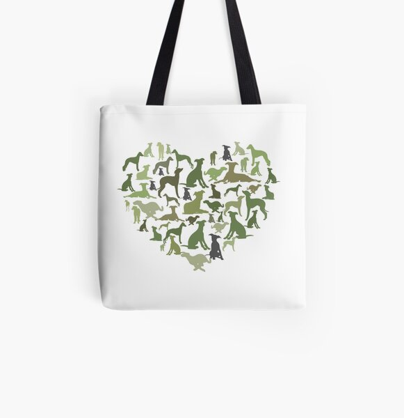 Whippets All Over Print Tote Bag