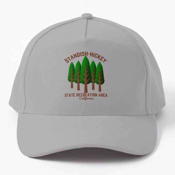 Standish-Hickey State Recreation Area, Leggett California, Dark Brown Text Hiking / Outdoors Baseball Cap