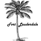 Black and White Fort Lauderdale & Palm design by PRODUCTPICS
