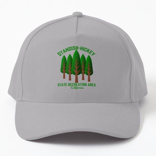 Standish-Hickey State Recreation Area, Leggett California, Light Green Text Hiking / Outdoors Baseball Cap
