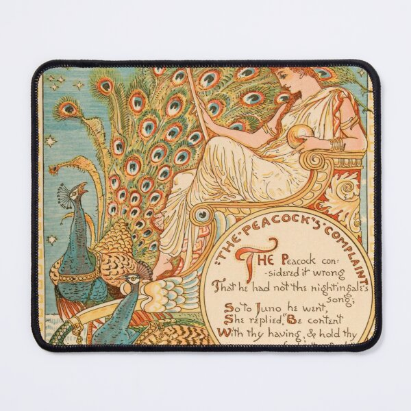 The Peacock's Complaint - Walter Crane 1887 Mouse Pad