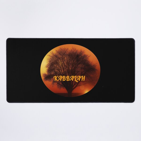 Kabbalah Tree in Sunset ~ Roots and Branches Desk Mat