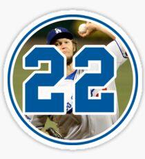 Clayton Kershaw Dodgers 22 Sticker