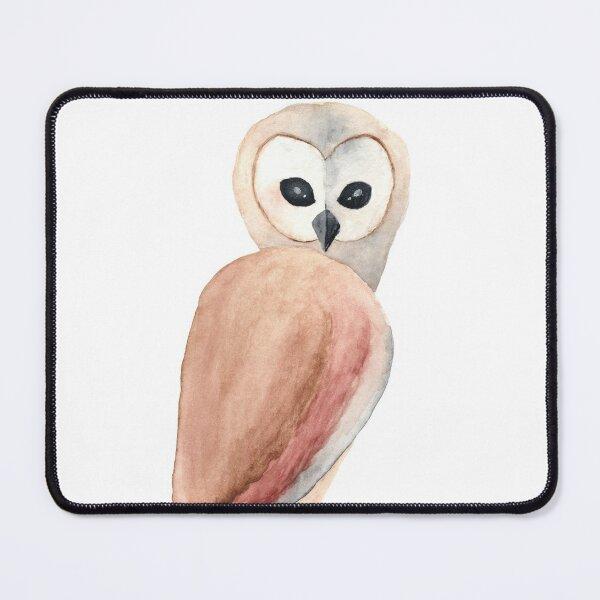 A Solemn Owl Mouse Pad
