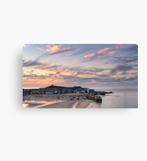 St Ives Harbour Sunset Canvas Print