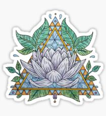 Stained Glass Lotus Illustration Sticker